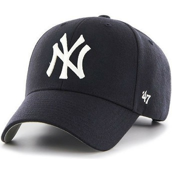 Cappellino visiera curva blu marino per bambino di New York Yankees MLB MVP di 47 Brand