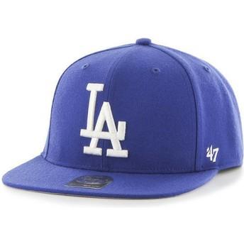 Cappellino visiera piatta blu snapback di Los Angeles Dodgers MLB Captain di 47 Brand