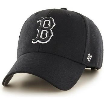 Cappellino visiera curva nero snapback con logo nero di Boston Red Sox MLB MVPde 47 Brand