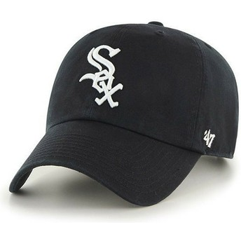 Cappellino visiera curva nero di Chicago White Sox MLB Clean Up di 47 Brand