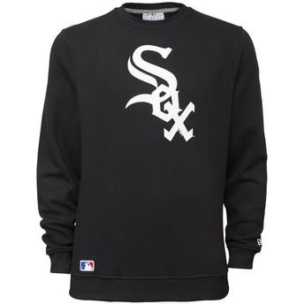Felpa nera Crew Neck di Chicago White Sox MLB di New Era