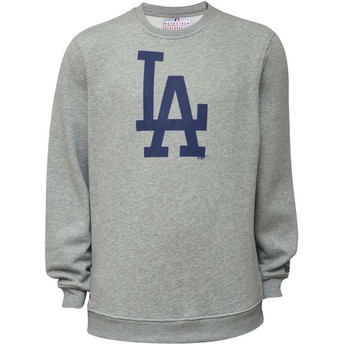 Felpa grigia Crew Neck di Los Angeles Dodgers MLB di New Era