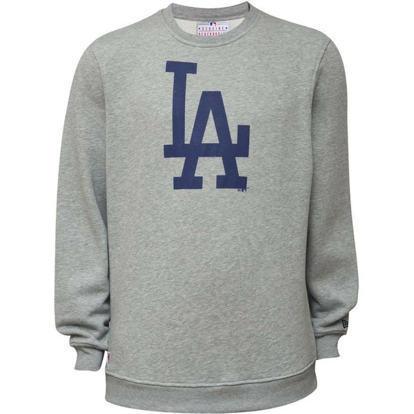 felpa-grigia-crew-neck-di-los-angeles-dodgers-mlb-di-new-era