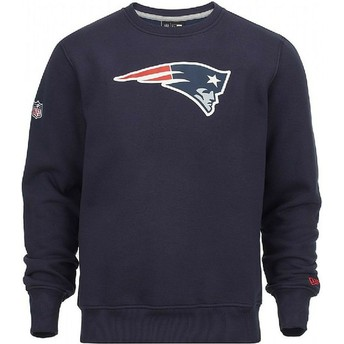 Felpa blu Crew Neck di New England Patriots NFL di New Era