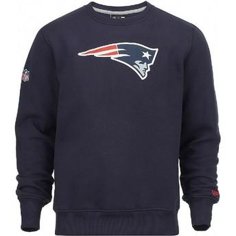 Felpa blu Crew Neck di New England Patriots NFL di New Era
