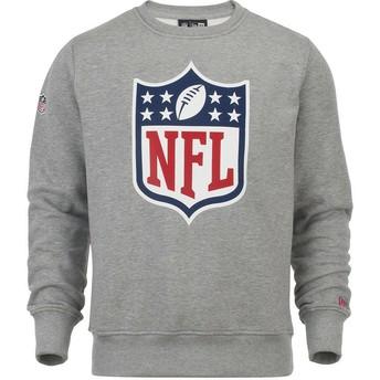 Felpa grigia Crew Neck di NFL di New Era