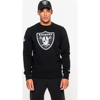 Felpa nera Crew Neck di Oakland Raiders NFL di New Era