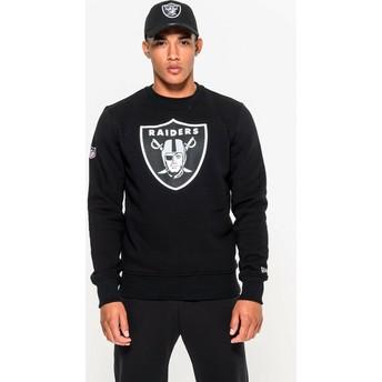 Felpa nera Crew Neck di Oakland Raiders NFL di New Era