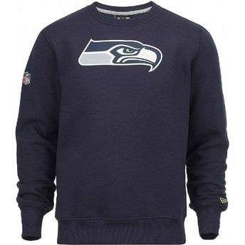 Felpa blu Crew Neck di Seattle Seahawks NFL di New Era