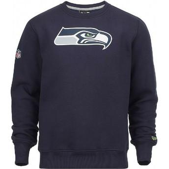 Felpa blu Crew Neck di Seattle Seahawks NFL di New Era