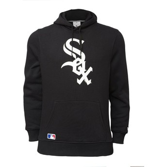 Felpa con cappuccio nera Pullover Hoodie di Chicago White Sox MLB di New Era
