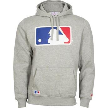 Felpa con cappuccio grigia Pullover Hoodie di MLB di New Era