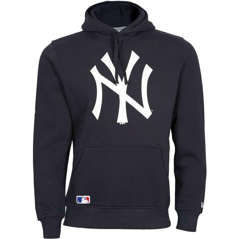 Felpa con cappuccio blu marino Pullover Hoodie di New York Yankees MLB di New Era