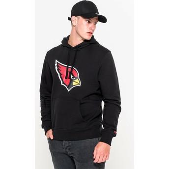 Felpa con cappuccio nera Pullover Hoodie di Arizona Cardinals NFL di New Era