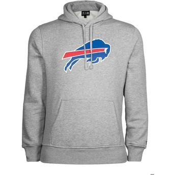 Felpa con cappuccio grigia Pullover Hoodie di Buffalo Bills NFL di New Era