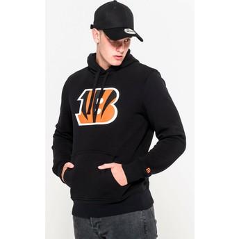 Felpa con cappuccio nera Pullover Hoodie di Cincinnati Bengals NFL di New Era