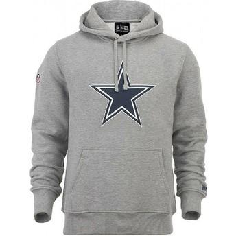 Felpa con cappuccio grigia Pullover Hoodie di Dallas Cowboys NFL di New Era