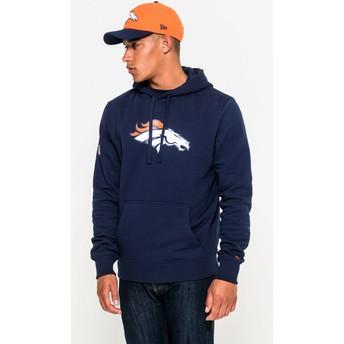 Felpa con cappuccio blu Pullover Hoodie di Denver Broncos NFL di New Era