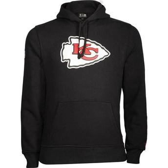 Felpa con cappuccio nera Pullover Hoodie di Kansas City Chiefs NFL di New Era