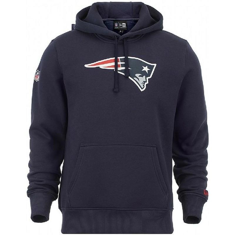 the best attitude b7b27 5b17b Felpa con cappuccio blu Pullover Hoodie di New England Patriots NFL di New  Era
