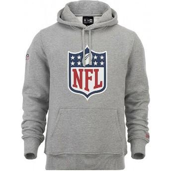 Felpa con cappuccio grigia Pullover Hoodie di NFL di New Era
