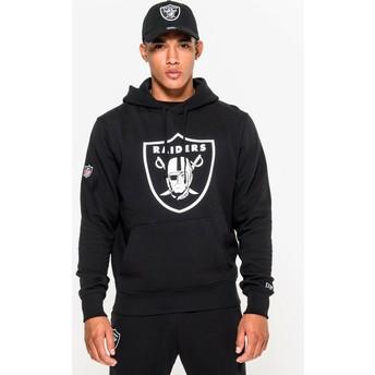 Felpa con cappuccio nera Pullover Hoodie di Las Vegas Raiders NFL di New Era