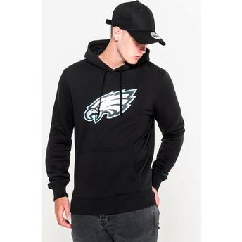 Felpa con cappuccio nera Pullover Hoodie di Philadelphia Eagles NFL di New Era