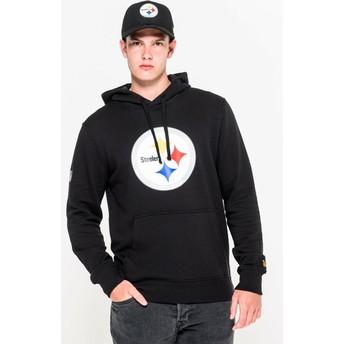 Felpa con cappuccio nera Pullover Hoodie di Pittsburgh Steelers NFL di New Era
