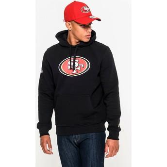 Felpa con cappuccio nera Pullover Hoodie di San Francisco 49ers NFL di New Era