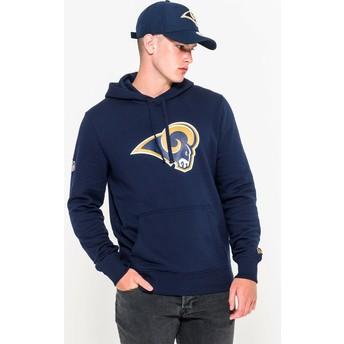 Felpa con cappuccio blu Pullover Hoodie di Los Angeles Rams NFL di New Era