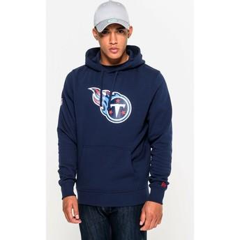 Felpa con cappuccio blu Pullover Hoodie di Tennessee Titans NFL di New Era