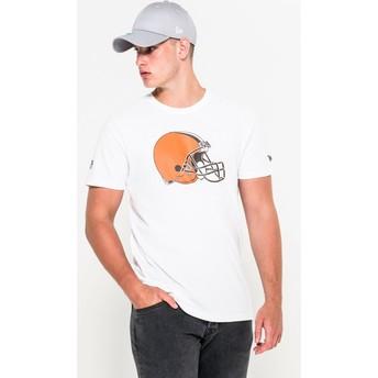 Maglietta maniche corte bianca di Cleveland Browns NFL di New Era