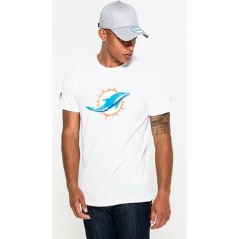 Maglietta maniche corte bianca di Miami Dolphins NFL di New Era