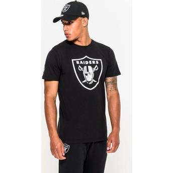 Maglietta maniche corte nera di Oakland Raiders NFL di New Era
