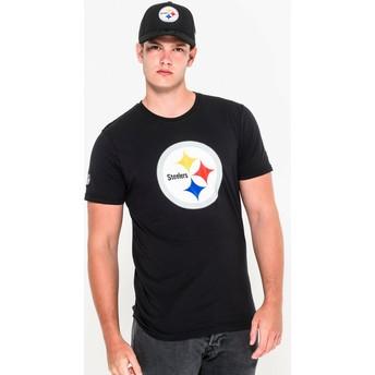 Maglietta maniche corte nera di Pittsburgh Steelers NFL di New Era