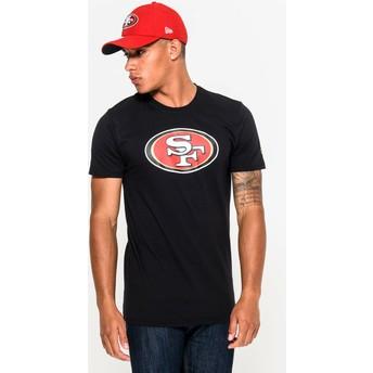 Maglietta maniche corte nera di San Francisco 49ers NFL di New Era