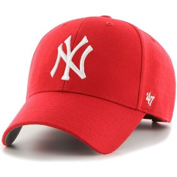 Cappellino visiera curva rosso di New York Yankees MLB MVP di 47 Brand