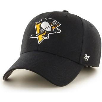 Cappellino visiera curva nero di Pittsburgh Penguins NHL MVP di 47 Brand