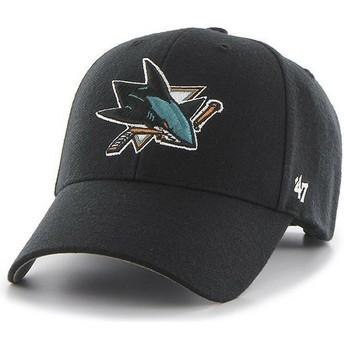 Cappellino visiera curva nero di San Jose Sharks NHL MVP di 47 Brand