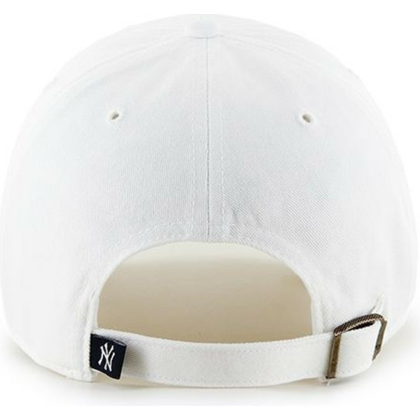 cappellino-visiera-curva-bianco-di-new-york-yankees-mlb-clean-up-di-47-brand