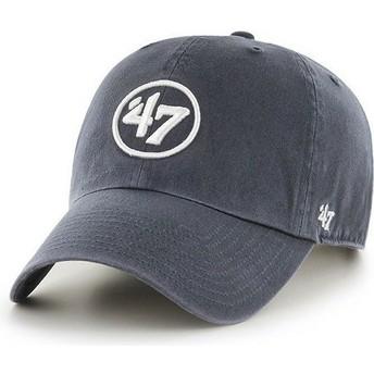 Cappellino visiera curva blu marino con logo 47 Clean Up di 47 Brand