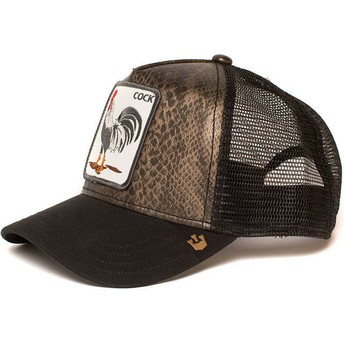 Cappellino trucker nero gallo Tropical di Goorin Bros.