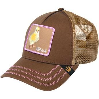 Cappellino trucker marrone pollito Chicky Boom di Goorin Bros.