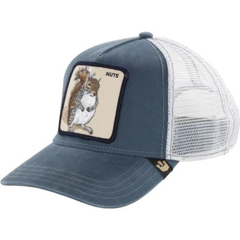 Cappellino trucker blu scoiattolo Nutty di Goorin Bros.