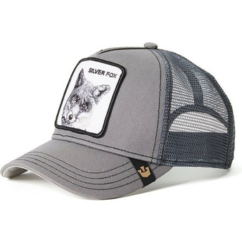Cappellino trucker grigio volpe Silver Fox di Goorin Bros.
