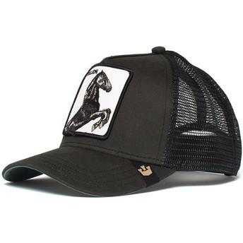 Cappellino trucker nero cavallo spirit Stallion di Goorin Bros.