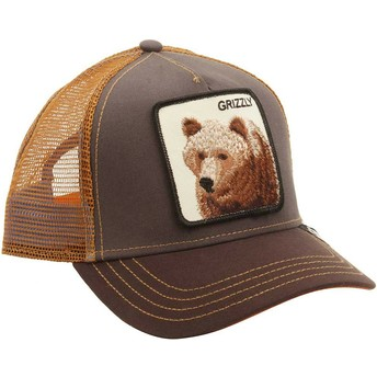 Cappellino trucker marrone orso Grizz di Goorin Bros.