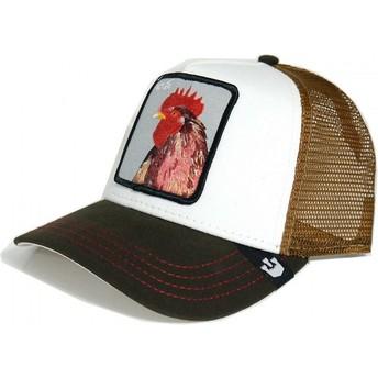 Cappellino trucker giallo e bianco gallo Peck Peck di Goorin Bros.
