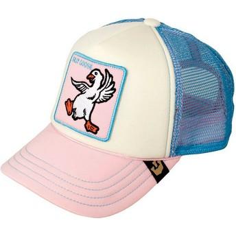Cappellino trucker rosa e blu per bambino oca Silly Goose di Goorin Bros.