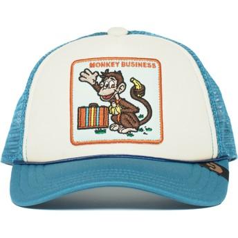 Cappellino trucker blu per bambino scimmia Monkey Business di Goorin Bros.